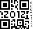 qr code 2012 - stock vector