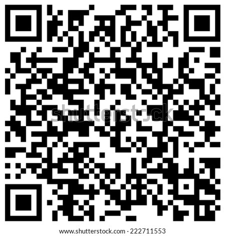 "QR code with hidden text ""Wish You a Merry Christmas and Happy New Year!"""