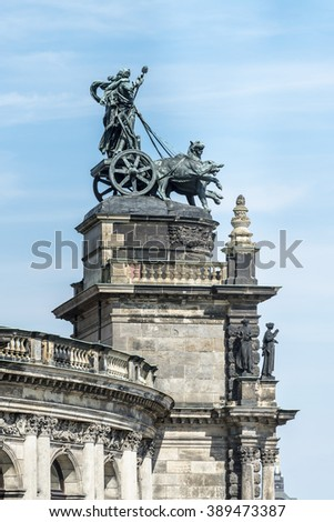 Quadriga in front of the Semper Opera in Dresden, Germany