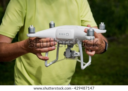 quadrocopters preparation for flight