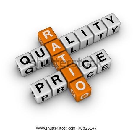 Quality and Price Ratio (3D crossword orange series)