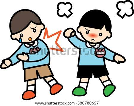 Quarrel Two Boys Stock Illustration 575225122 - Shutterstock