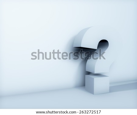 Question mark on white background