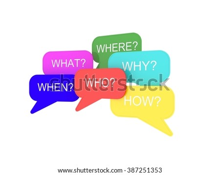 Question Word and Speech Bubble
