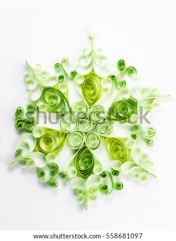 Quilling pattern on a white background