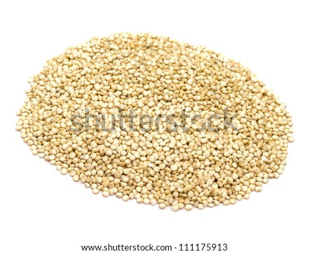 Quinoa pile isolated on white background