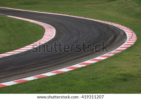 Race track curve road for car racing