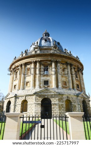 Radcliffe Camera at the university of Oxford. Oxford, England
