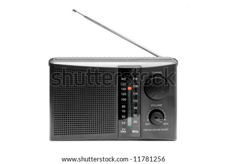 radio on a white background