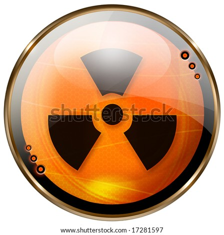 Radioactive glossy button.