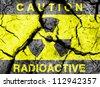 Radioactive symbol background - stock photo