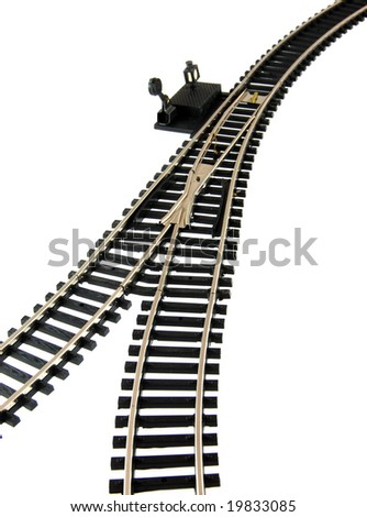 Railroad Track on white background