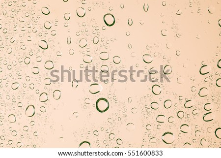 Rain droplets on glass background, Drops of water.