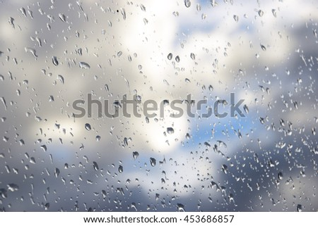 rain drops and cloudy sky
