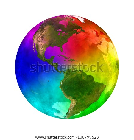 Rainbow and beauty planet Earth - America Elements of this image furnished by NASA