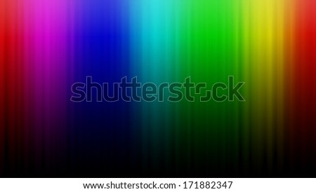 Rainbow gradient background.