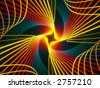 rainbow spiral fractal - stock photo