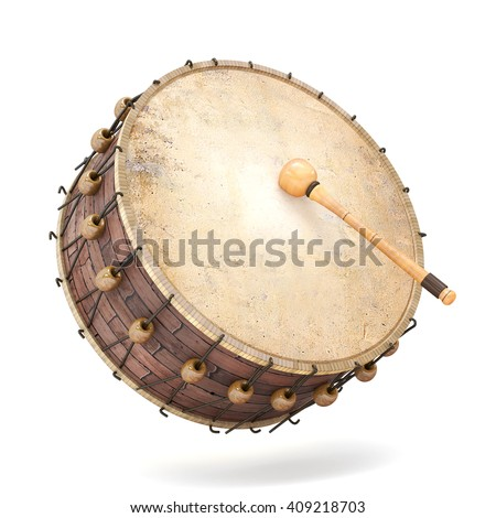 Ramadan drum 3D Rendered Isolated