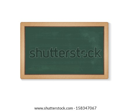 Raster illustration of green school blackboard. Contains Adobe Illustrator's Clipping Mask and Blend.