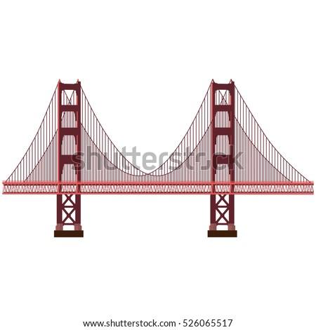 golden gate bridge coloring page - silhouette golden gate bridge black color stock vector