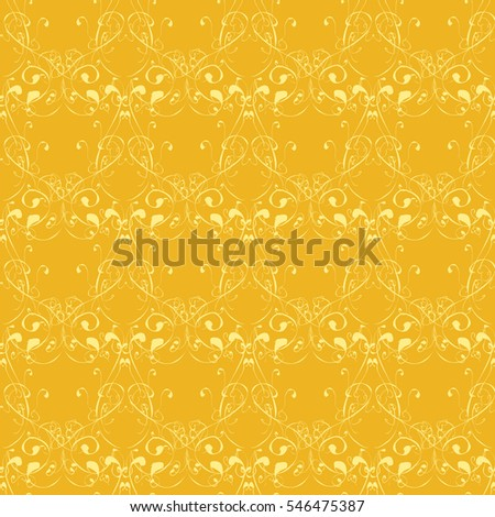 Raster illustration with yellow abstract background. Vintage.
