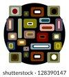 raster northwest native style art design - stock photo