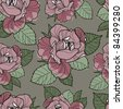 "RASTER seamless floral pattern (from my big ""Floral collection"") - stock photo"
