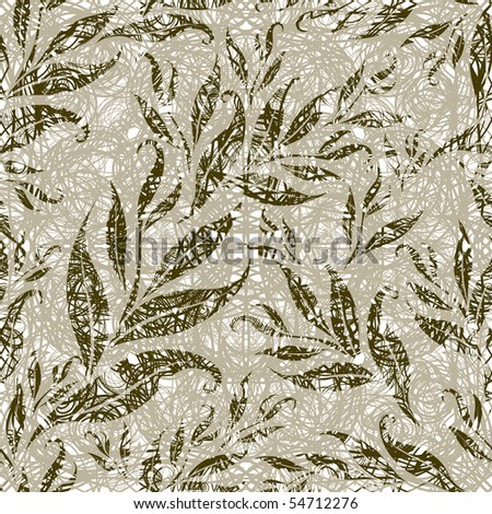 "RASTER Seamless grunge floral pattern with leafs (From my big ""Seamless collection"")"