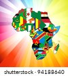 Raster version illustration for the continent of Africa. Over 50 countries including several small islands, rivers and lakes not visible unless zoomed in. Very editable if needed. - stock vector