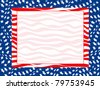 Raster version Illustration for the 4th of July Independence background. - stock photo