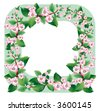 Raster version of vector border with of a blooming sprig of apple - stock photo