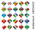 Raster version of vector set world flag icons 5 - stock vector