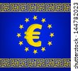 rasterized EU flag vector illustration. bitmap of vector version. see for vector version in my portfolio - stock vector