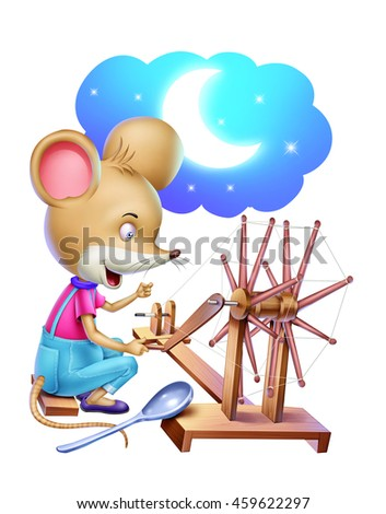 Rat With Spinning Wheel