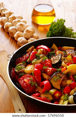 ratatouille pickled chilies black pepper whole crushed coarsely and ...