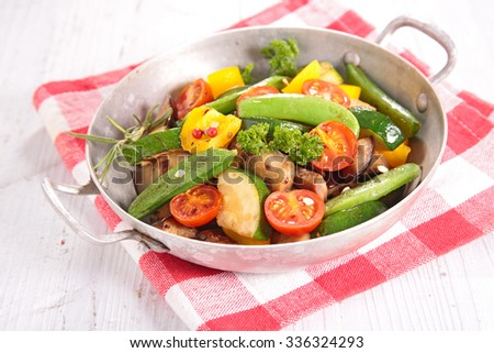 ratatouille,fried vegetables
