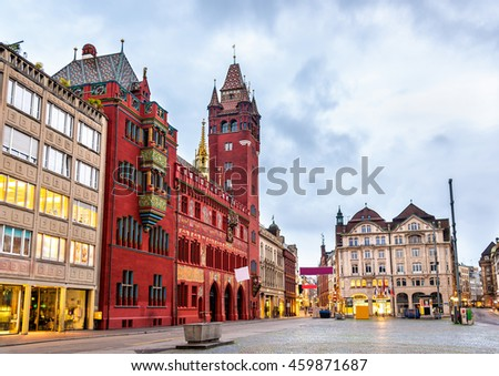 Rathaus, the Town Hall of Basel - Switzerland