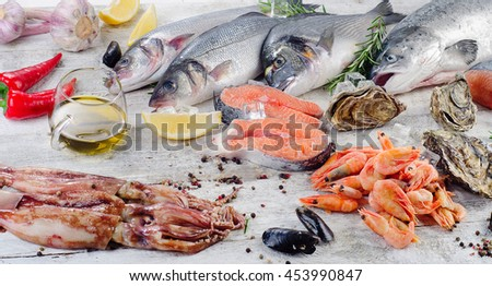 Seafood stock photo 159746954 shutterstock for Aromatic herb for fish