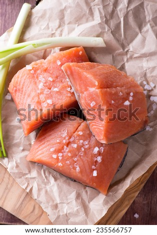 Surimi crab sticks white plate vietnamese stock photo for Red fish fillet