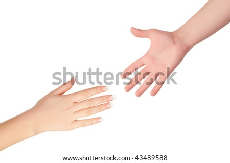 Reaching hands