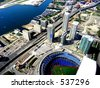 Ready for baseball event. Ariel view of Rogers center stadium. - stock photo