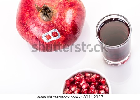 real and fresh pomegranate juice