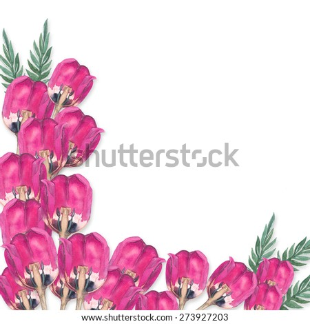 realistic bouquet of pink  tulips. Watercolor illustration. Illustration for postcards and invitations.