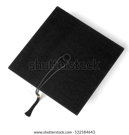 realistic 3d render of graduation cap