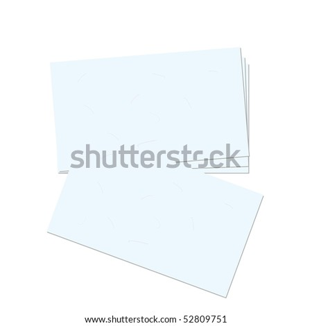 Realistic illustration business card - Raster
