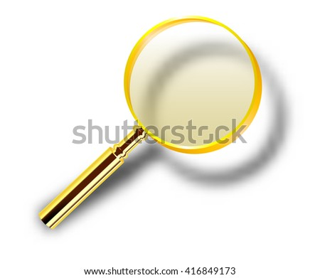 Realistic magnifying glass