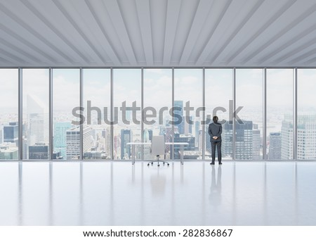 Executive Office View luxury executive office city view window stock photo 346249391