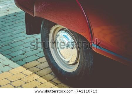rear wheel retro car