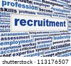 Recruitment message poster design. Employment poster background - stock photo