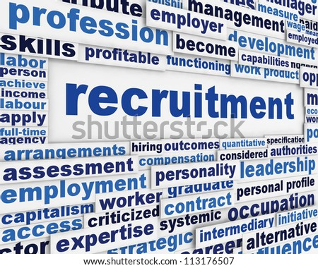 Recruitment message poster design. Employment poster background